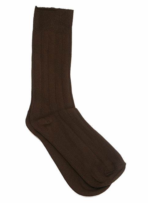 Miorre 6'Lı Likralı Çorap Kahve
